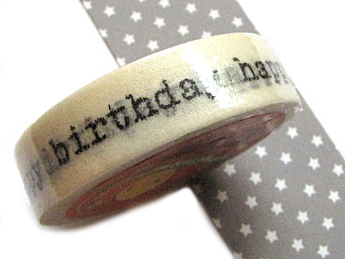 Motivklebeband Masking Tape Happy birthday (0,28€/m)