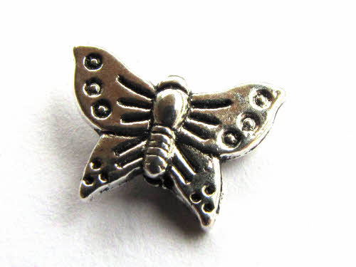 Metallperle Schmetterling, verziert, ca. 16x12mm